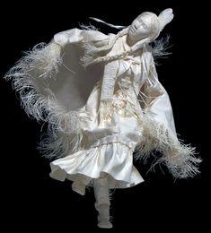 Shawl Dancer, paper sculpture by Eckman Fine Art
