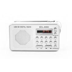 ELBE RF-49-USB RADIO CON LECTOR DE TARJETAS - Radio digital FM. - Toma Aux-in (3.5 mm). - Lector de tarjetas TF y SD. - Lector MP3 y USB. - Salida auriculares. - Altavoz incorporado. - Batería recargable (3.7V / 400 mAh). - Cable USB incluido. - Dimensiones (An-Al-Pr): 12.5 x 7 x 3 cm.