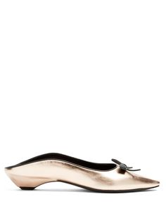 Fabrizio Viti Take A Bow backless leather flats