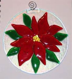 Fused Glass Poinsettia by lunarisingart on DeviantArt