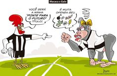 Charge do Dum (Zona do Agrião) sobre o confronto Atlético x Ponte Preta (01/10/2016) #Charge #Dum #Atlético #Galo #PontePreta #HojeEmDia