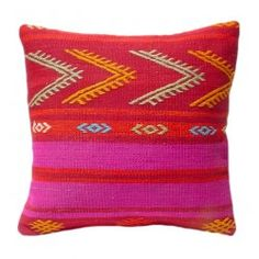 beautiful kilim cushion for a modern bohemian chic look. love the vibrant color combo!