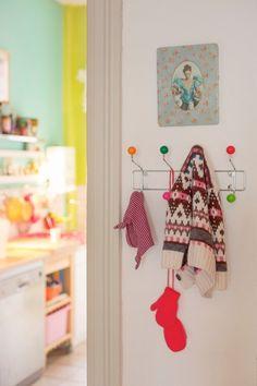 Casinha colorida: Inspiração décor: hall de entrada!
