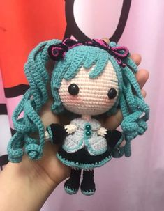 Crochet Dolls Free Patterns, Crochet Doll Pattern, Amigurumi Patterns, Amigurumi Doll, Crochet Designs, Kawaii Crochet, Cute Crochet, Crochet Toys, Sailor Moon Crochet