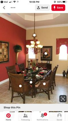 House Plans - Pictures of Homes Built from Our Home Floor Plans Dining Room Paint Colors, Bedroom Wall Colors, Dining Room Walls, Living Room Paint, Dining Room Design, Living Room Decor, Interior Paint Colors For Living Room, Burgundy Living Room, Living Room Orange