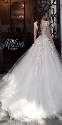 Milva Bridal Wedding Dresses 2017 Zahara / http://www.deerpearlflowers.com/milva-wedding-dresses/