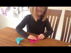 Origami vlinder vouwen