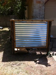 Trash can screen with corrugated metal