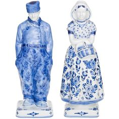 Royal Delft Home Farmer And Wife Figurine Set (9,320 CNY) ❤ liked on Polyvore featuring home, home decor, blue home decor, handmade home decor and royal delft