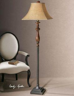 One Light Distressed Cinnamon, Champagne Silver And Dark Bronze Floor Lamp : UZL9 | J. Britt Lighting & Interiors
