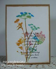 *Majos Art* - One Layer Card - Tim Holtz Wildflowers