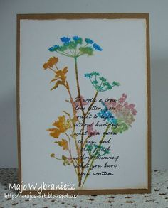 *Majos Art* - One Layer Card - Tim Holtz Wildflowers