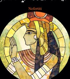 Nefertiti Stained Glass finished