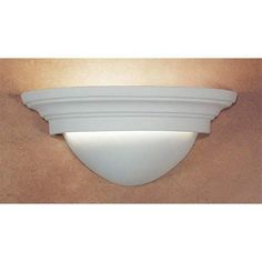 Fawn Great Majorca Fluorescent Half-Moon Wall Sconce - (In Fawn)