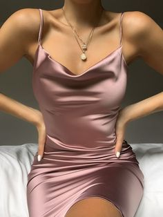 trendy outfits for women / trendy outfits . trendy outfits for summer . trendy outfits for school . trendy outfits for women . Purple Bridesmaid Dresses, Hoco Dresses, Satin Dresses, Elegant Dresses, Casual Dresses For Women, Pretty Dresses, Cute Party Dresses, Backless Homecoming Dresses, Cute Dress Outfits