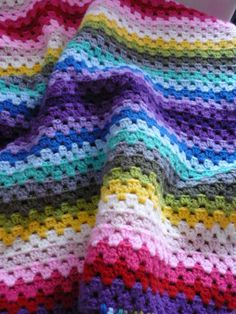 a granny stripe blanket for my daughter