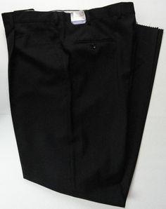 "NWT Burberry London Mens Pants 41"" W 46"" L Unhemmed Black Pleated 100% Wool New…"
