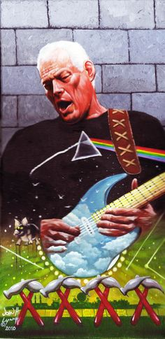 David Gilmour by John H. Richard Williams, Rock Posters, Concert Posters, Rock Roll, Great Bands, Cool Bands, Hard Rock, Arte Pink Floyd, Musica Punk