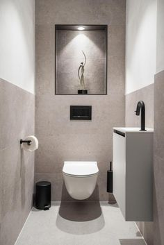 Small Downstairs Toilet, Small Toilet Room, Very Small Bathroom, Downstairs Bathroom, Bathroom Layout, Bathroom Design Luxury, Bathroom Design Small, Modern Bathroom, Small Toilet Design