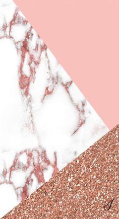 Marbled and rose gold wallpaper - Lindsay Scherger - Handy hintergrund -
