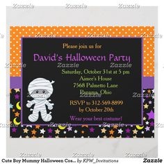 Cute Boy Mummy Halloween Costume Party
