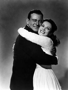 John Wayne and Maureen O'Hara in the Quiet Man.