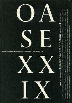 https://flic.kr/p/4McJg6 | Martens_OASE 29 1991 | OASE Magazine 29, 1991. Cover and table of contents.  Karel Martens, designer.