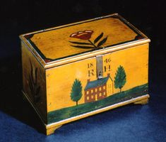 Jonas Weber  Trinket box for R. H.  Lancaster County, Pennsylvania, 1846  Collection of Frank and June Barsalona