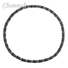 Channah 2017 Stainless Steel Necklace Ladies Magnetic 4-in-1 Negative Ions All Black Bio Choker Jewellery Free Shipping Charm #Affiliate