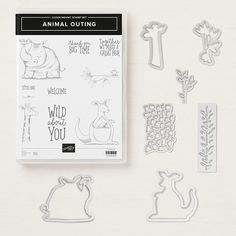 Animal Outing Clear-Mount Stamp Set What do a frog, a giraffe, a koala bear, a bird, a kangaroo and a rhino all have in common? The answer's obvious: they're all in this set! * Quantity: 10 rubber stamps * Suggested clear blocks (sold separately): a, b, c, d Animal Friends Thinlits Dies Create lovely die-cut animals, palm trees and leaves in record time with Thinlits dies and the Big Shot. The set includes a peek-through leaf that is great for borders. One die also features cuts in the…