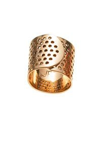 Jennifer Fisher Band-Aid Ring in Rose Gold.