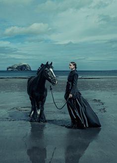 horsesenvogue:  Kim Noorda for Elle Germany, December 2015  by Carl Bengtsson