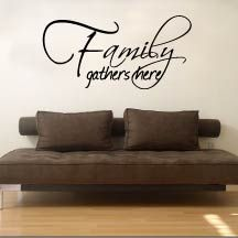 Family Wall Quotes, perfect for large awkward wall spaces and high walls that have large dead space