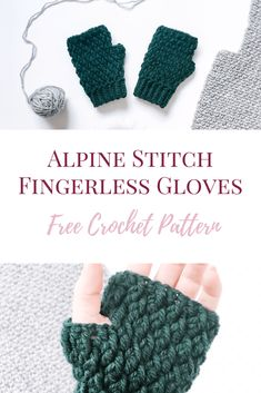 Aspen Mittens - Crochet Fingerless Gloves Pattern - Burgundy and Blush Free crochet fingerless gloves pattern using the lovely alpine stitch. A great quick mittens pattern for winter crochet projects. Crochet Fingerless Gloves Free Pattern, Crochet Mitts, Mittens Pattern, Fingerless Mittens, Crochet Slippers, Crochet Yarn, Crochet Granny, Crochet Poncho, Loom Knitting Patterns