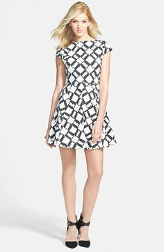 'Versus From the Abstract' Print Skater Dress | MINKPINK