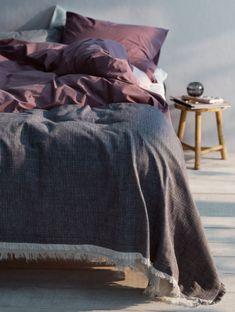 Ines Cm Throw Over Bedspread Ines, Tummanharmaa - Kodinsisustusta - kodintekstiilejä - Hemtex Throw Over, Bedspread, Quilt Cover, Bedspreads, Bed Throws, Bed Linen