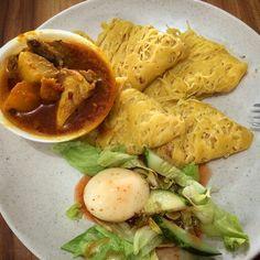 Roti kirai, a Malay dish.