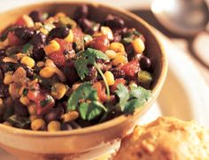 Black Bean Chili: You can have this chili on the table in no time at all since you probably already have the ingredients in your pantry. We like ours made with black beans, but you can also use red kidney or pinto beans, or mix two kinds of beans together. For a change of pace, serve the chili over quinoa instead of rice. Black Bean Chili, 3.0 out of 4 based on 2 ratings