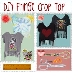 DIY crop top.... perfect for summer!