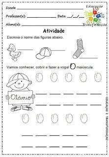 Atividades para Jardim: Vogais e encontros vocálicos Math Equations, Gabi, Free, Letter E Activities, Language Activities, Cursive Letters, Classroom, Activities, Libros