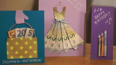 Ya sea boda o cumpleaños: los regalos de dinero siempre son populares. Wedding Presents For Newlyweds, Wedding Gifts, Craft Gifts, Diy Gifts, Handmade Gifts, Don D'argent, Money Creation, Birthday Cards, Birthday Gifts