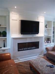 Mind Blowing Useful Tips: Round Corner Fireplace fireplace cover how to build.Contemporary Fireplace With Built Ins cabin fireplace building.White Fireplace And Mantels. Wall Units With Fireplace, Linear Fireplace, Fireplace Built Ins, Fireplace Surrounds, Fireplace Wall, Fireplace Design, Fireplace Ideas, Gas Fireplace Inserts, Built In Tv Wall Unit