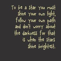 To be a star....