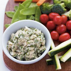 White Bean & Herb Hummus with Crudites - Simple calorie-burning recipes to lose weight fast
