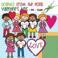 Valentine's Day Kids - Graphics From the Pond