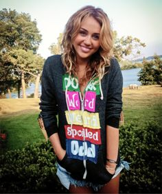 Hoodies Against Bullying Shes Perfect, She Is Gorgeous, Old Miley Cyrus, Happy Hippie Foundation, Sing For You, Disney Channel Stars, Hannah Montana, Demi Lovato, Love Her