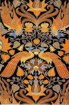 This is beautiful! Textiles, Textile Patterns, Textile Design, Color Patterns, Henna, Mehndi, Indonesian Art, Batik Art, Batik Pattern
