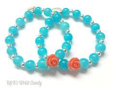 My Darling Rose Beaded Bracelet by RandRsWristCandy on Etsy, $6.00