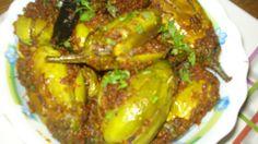 gutti vankaya koora (Stuffed brinjal curry)