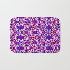Red, white and blue diamonds 242 bath mat home decor